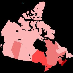 A peine 10% du territoire canadien est habité. Le pays a beau fait 15 fois la France en superficie, sa population n'égale même pas celle de France.